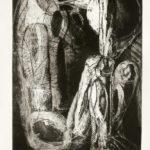 """sorg"" - 1959 - Radering - Arne Haugen Sørensen - 55 x 34cm - Tilhører kunstneren"