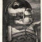 """""""Legionaer"""" Arne Haugen Sørensen - 1959 Radering Mål: 28 x 23cm - Tilhører kunstneren"""